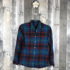 Madewell Flannel Boyshirt In Fleece Plaid XS EUC